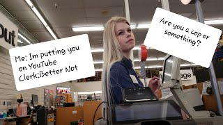 CVS Rude Lying Clerk (SIMI VALLEY ALI)learns a lesson on returns and public photography.