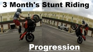 Download Stunt Riding Progress - 3 Month's 3Gp Mp4