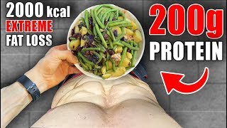 Full Day of Eating 2000 Calories | Extra High Protein Diet for Fat Loss