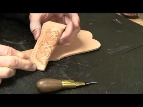 Knife Sheath Making Part 2 How to make Leather Pocket Knife Sheaths for Folding Knives