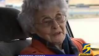 A 92-Year Old Is Held At Gunpoint But Her Response Brings Her Mugger To Tears.
