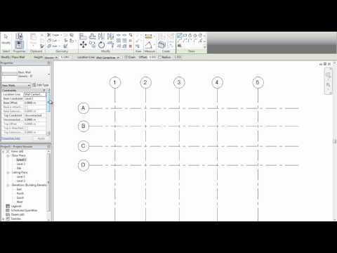 Entorno - Revit Architecture 2012 - Tutorial 04 - Grillas y Niveles
