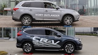 Mitsubishi Outlander All Wheel Control vs Honda CR-V Real Time AWD - 4x4 test on rollers