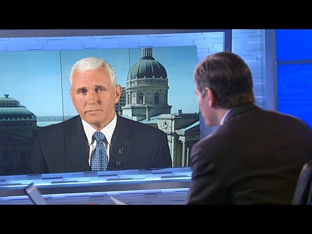 Indiana Gov. Mike Pence Says Religious Freedom Law 'Absolutely Not' a Mistake