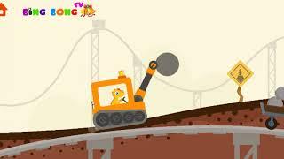 Hoạt Hình Xe Ô TÔ | XE ĐỤC | Video hoạt hình xe ô tô hay cho bé | BingBong TV | Video for children