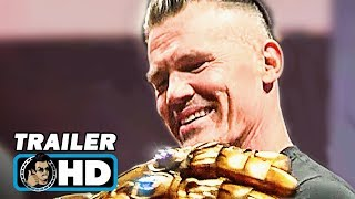 D23's MARVEL Booth Footage - Josh Brolin with Thanos Infinity Gauntlet & Black Panther (2018)