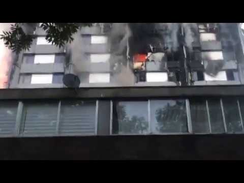 London High-Rise Residents Shout for Help as Building Burns
