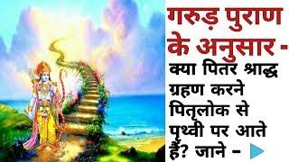 गरुड़ पुराण के अनुसार - क्या पितर श्राद्ध ग्रहण करने पितृलोक से पृथ्वी पर आते हैं?   YT Pandit Ji  