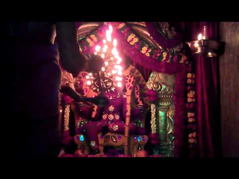 Sri Rajarajeshwari Devi Navrathri Mahotsava Day 1 During Maha Mangala Aarthi video