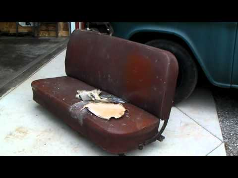 1956 Chevy Truck Seat Reupholstered Part 1 Music Videos
