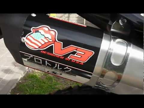 MOTOMEL SKUA CON ESCAPE DEPORTIVO PROTORK Y GRAFICAS 3M  P1010191.MOV