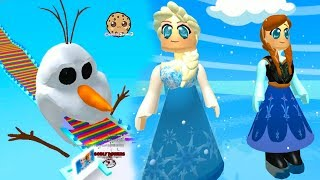 Let's Play Queen Elsa Frozen 2 Disney Movie Inspired Roblox OBBY + Worlds