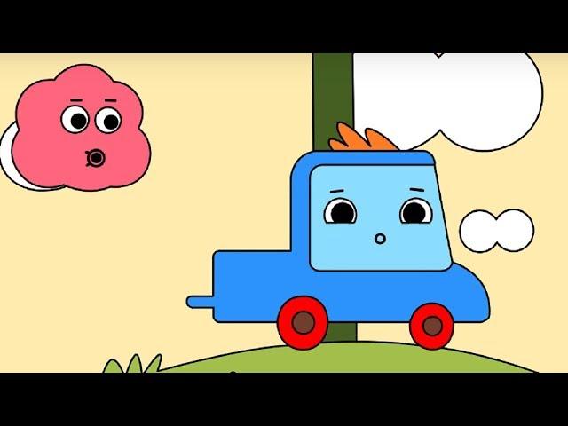 Мультфильм про машинки -  Грузовичок Пик - Раскраска -Потерянное яичко - учим цвета