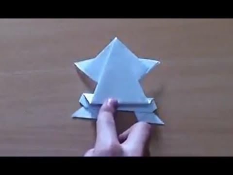 Faire une grenouille en origami grenouille sauteuse en papier youtube - Faire grenouille en papier ...