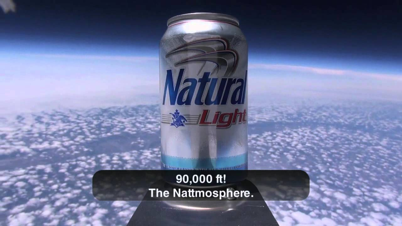Natural Light - First Beer in Space