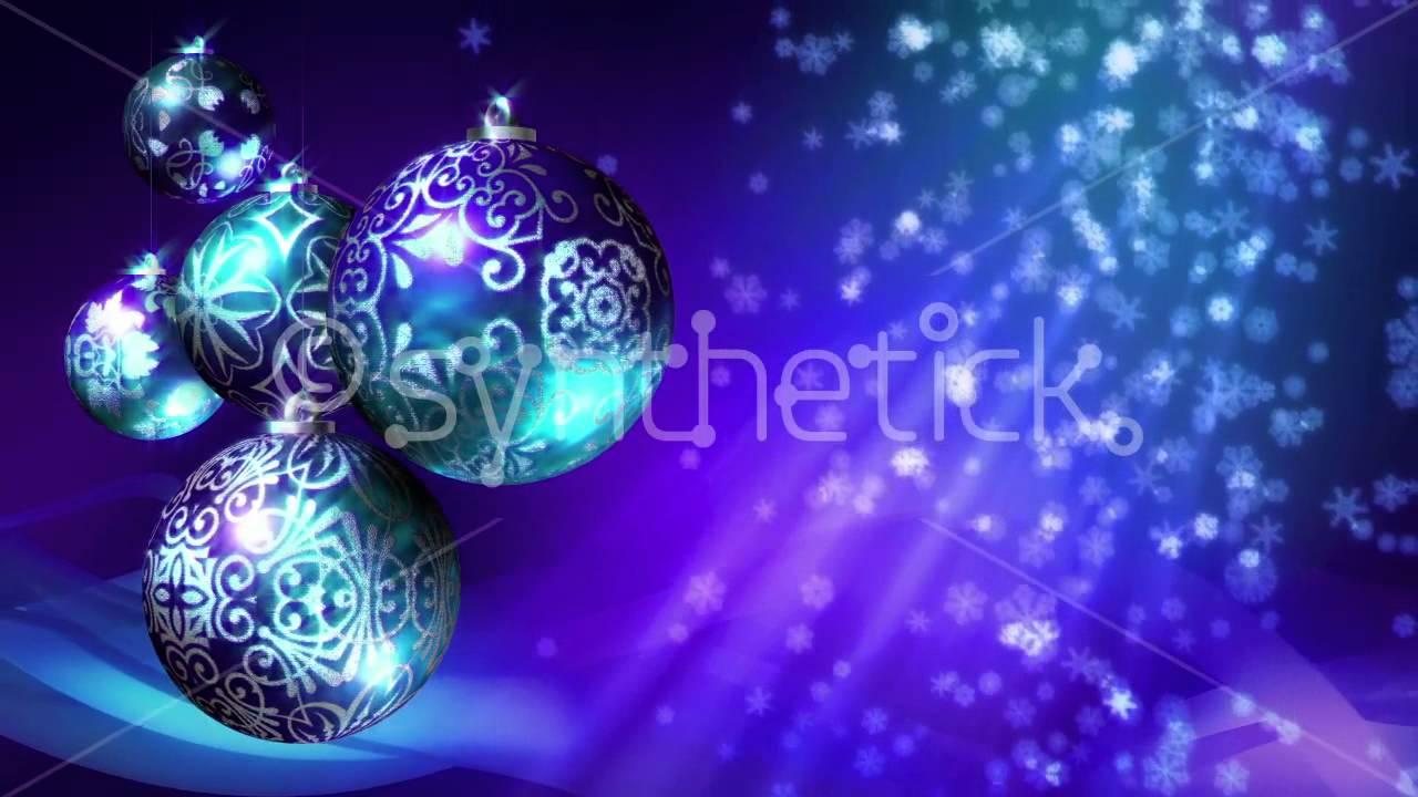 Christmas Background Loop Blue Silver Purple Christmas