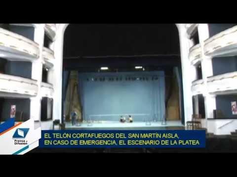 Como en los grandes teatros, el San Martín cuenta con un telón cortafuegos - Tucumán Gobierno