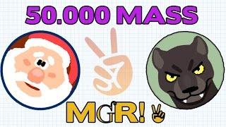 AGAR.IO MƓR! ✌ CLAN 50.000 MASS GAMEPLAY - TOTAL DOMINATION IN AGARIO