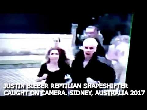 Justin Bieber Caught Shapeshifting into a Reptilian in front of his Fans!