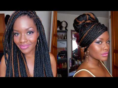 Como Hacer Trenzas Largas / How To Do Box Braids /Protective Styles TUTORIAL...DC