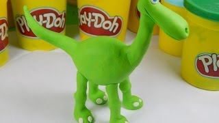 The Good Dinosaur play doh videos HD. Пластилин Плей До