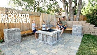 Paver Patio Backyard Makeover