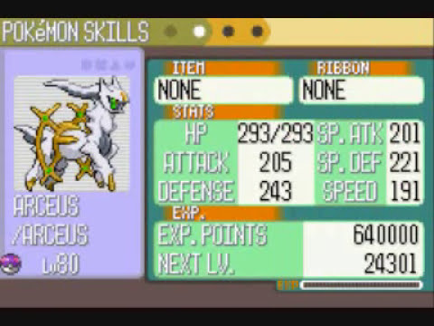 Pokemon Ruby Hacking - Arceus and Mount Coronet