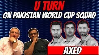 U TURN ON PAKISTAN WORLD CUP SQUAD   Caught Behind