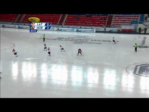 Latvia - Norway (Bandy world championship, Khabarovsk)