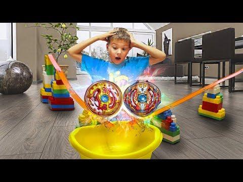 ЗАИГРАЛСЯ!! СДЕЛАЛ самую КРУТУЮ АРЕНУ С ТРЮКАМИ ИНФИНИТИ НАДО из игрушек для детей for kids children