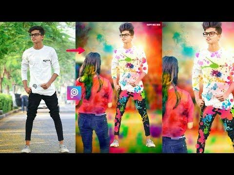 2018 Holi special photo editing    Professional holi editing    like PicsArt editing tutorial