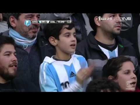Ricky Álvarez Goal Argentina vs Slovenia 2 0 Friendly Match 2014