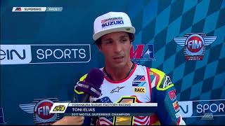 Toni Elias Interview New Jersey Motorsports Park MotoAmerica Superbike Race 1