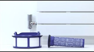 Dyson DC46 (Canada), DC47 - Washing the filters (Official Dyson video)