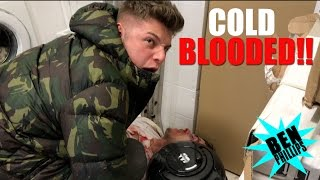 We found a dead body in our freezer! PRANK!
