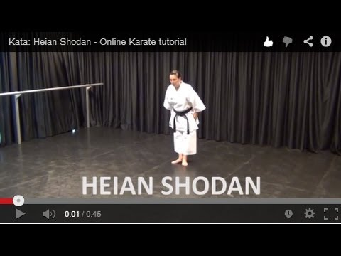 Kata: Heian Shodan - Online Karate Tutorial video