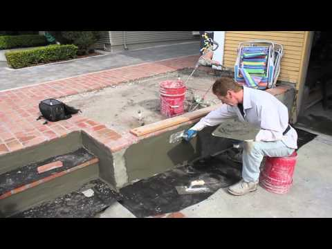 How to do a skim coat on concrete