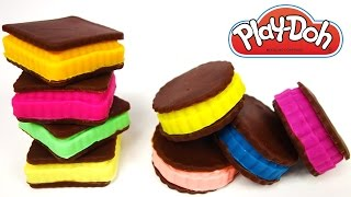 Play Doh Ice Cream Sandwich How to Make Looks Like Real Food Yummy