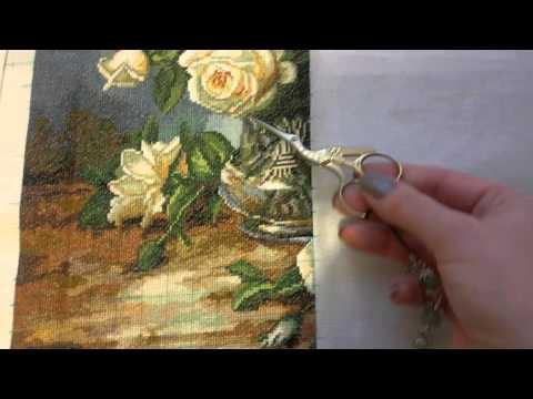 Вышивка крестом магнолия золотое руно