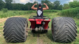 MONSTER FOURWHEELER on 400LB Wheels/Tires CANT BE STOPPED