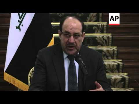 4:3 Iraqi PM Nouri al-Maliki holds joint news briefing with Iranian vice president