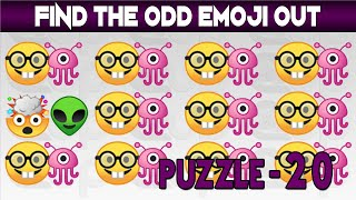 Find The Odd Emoji One Out | Spot The Odd Emoji One Out | Emoji Movie Games | Find The Difference