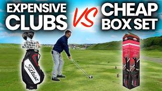 EXPENSIVE GOLF CLUBS VS CHEAP BOX SET GOLF CLUBS - SHOCKING  OUTCOME
