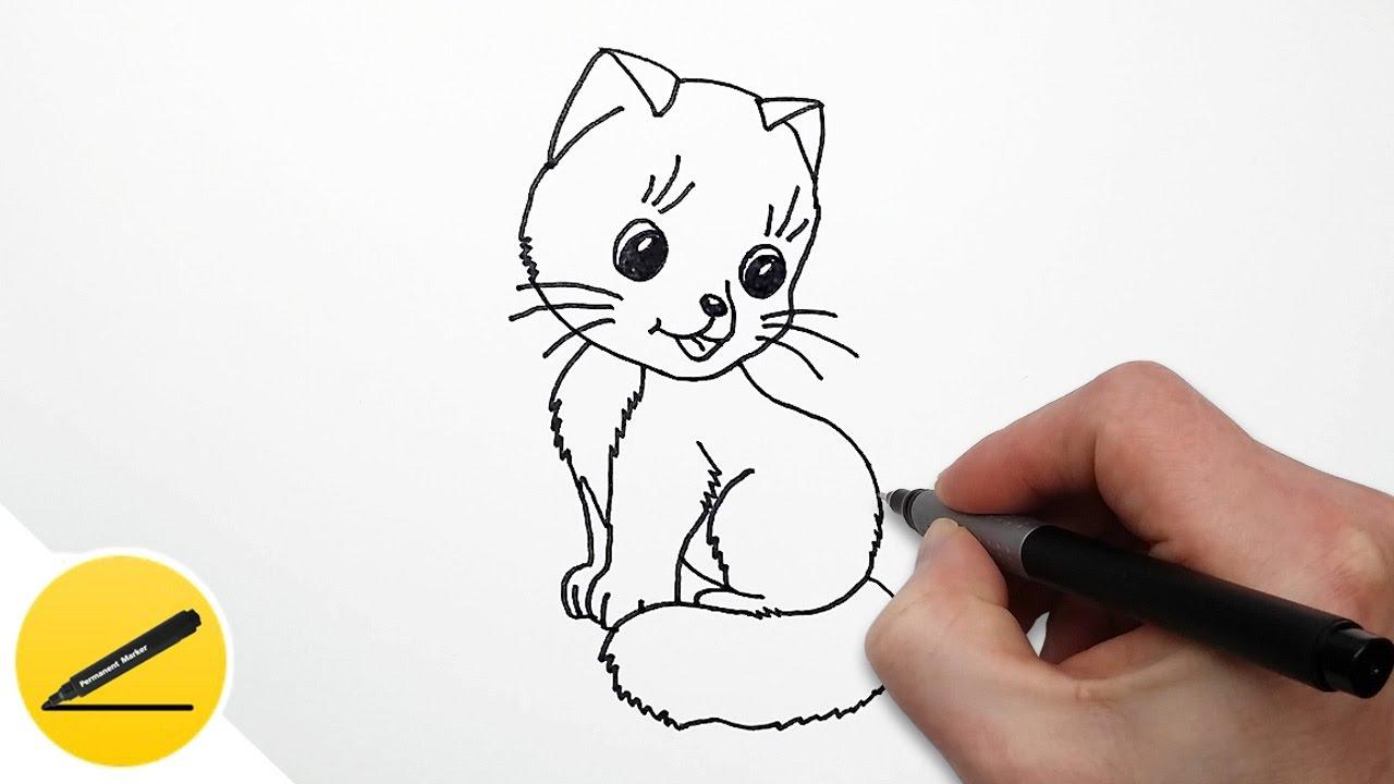 Как нарисовать кота по легкому