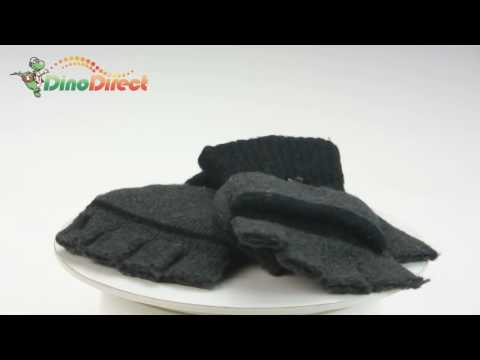USB Heating Heated Warmer Hands Gloves for Man Black & Gray - dinodirect