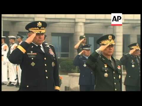 Official ceremony for new commander of US forces on Korean peninsula