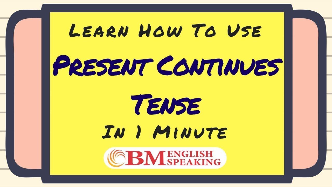 Present Perfect Continuous Tense Formula Present Continuous Tense