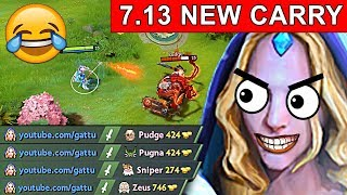 NEW CARRY CRYSTAL MAIDEN DOTA 2 PATCH 7.13 NEW META GAMEPLAY #76