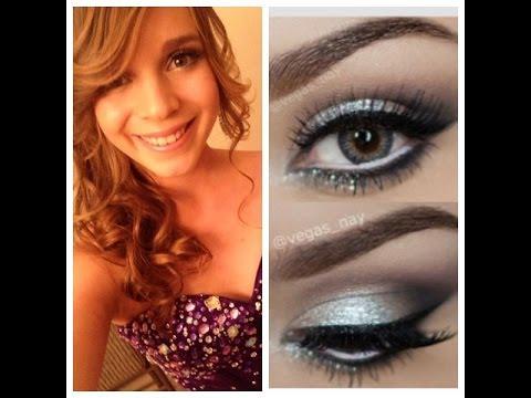 Prom formal makeup silver smokey eye youtube