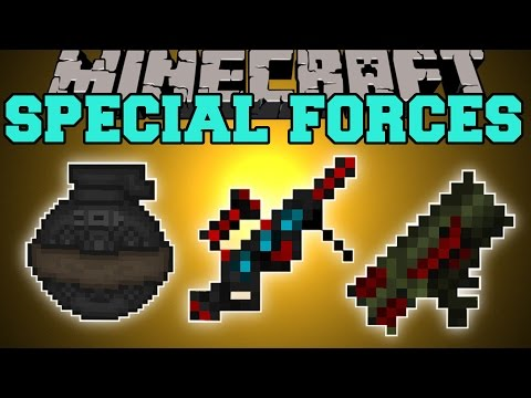 Minecraft: SPECIAL FORCES MOD (LASER BLASTER, PLASMA CANON, GUNS, & MORE!) Mod Showcase